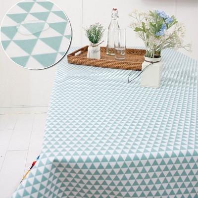 민트 깨알삼각 방수식탁보