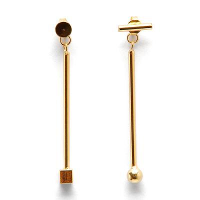 실버 925 벨스 도형 골드 귀걸이