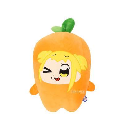 정품 대형 팝팀에픽 포푸코 당근자수 모찌 쿠션 40cm