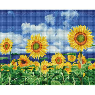 푸른 해바라기밭 (캔버스형) 보석십자수 40x50