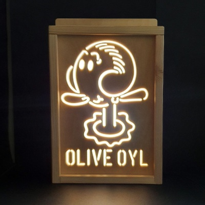 레트로 감성 올리브오일 LED 무드등 (뽀빠이시리즈)