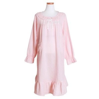[쿠비카]레이스 이중지면 원피스 여성잠옷 W492