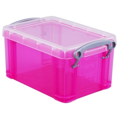 [Really Useful] 클리어박스0.7리터 (Litre) 투명핑크 [개/1] 302641