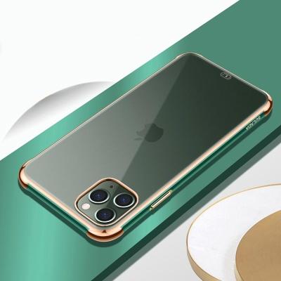 아이폰11 pro max 메탈 골드핏 라인 투명 하드 케이스