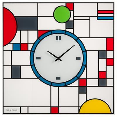 넥스타임 3100 프랭크 액자형 글라스 인테리어벽시계