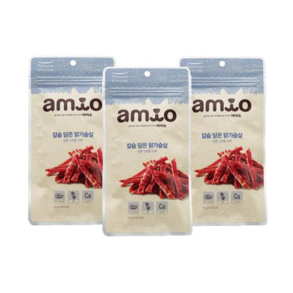 칼슘담은 닭가슴살 50g x3개 강아지간식 애견간식