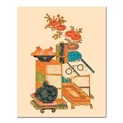 DIY 페인팅 책거리 석류병풍 PK08 (40x50)