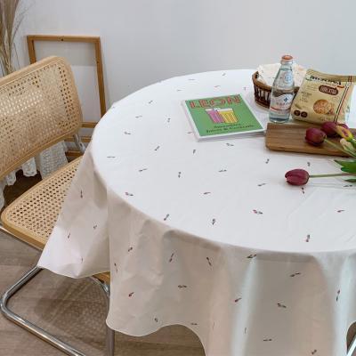 에블린 린넨 튤리비아 방수 식탁보 4인정사각