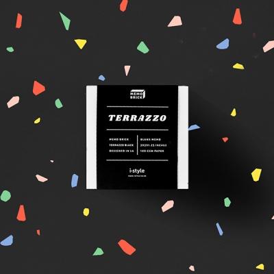 [아이스타일] 테라조 블랙 떡메모지