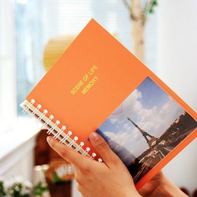 SCENE OF LIFE MEMORY - 4x6 Photo Album ver.01 오렌지