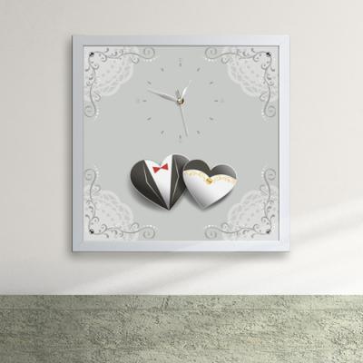 iw056-신랑신부의웨딩마치액자벽시계_디자인액자시계