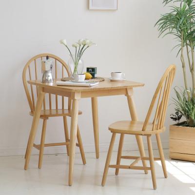 [내츄럴모노]소나무 원목 2인식탁+의자 2P (NA-11A)