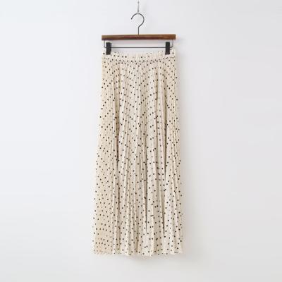 Dot Pleatd Wide Pants - 치마바지
