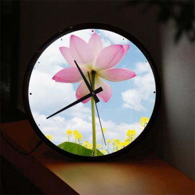 ng514-LED시계액자35R_연꽃과맑은하늘