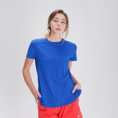 스플래쉬 사이드 슬릿 티셔츠 DFW5024 블루