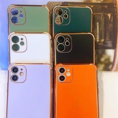 아이폰12 프로 맥스 미니/컬러 골드 테두리 폰케이스