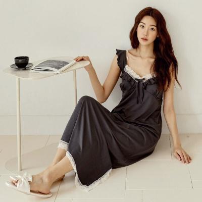 [쿠비카]볼륨감 바스트 셔링 원피스 여성잠옷 W812