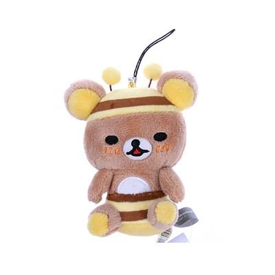 리락쿠마 꿀벌 시팅 핸드폰줄