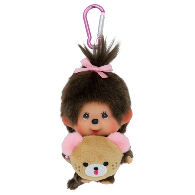 몬치치 45th Anniverssary Happy Trip Monchhichi Big Head SS Girl