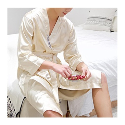 실키나잇 남성 잠옷가운 (골드베이지) (XL)