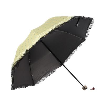 도트 레이스 양산(옐로우그린)/ 자외선차단양산