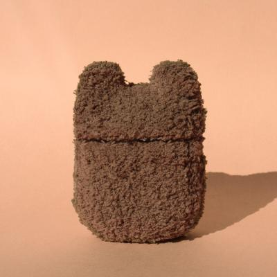 레이지띵 베이직 브라운 베어띵 뜨개 에어팟 케이스