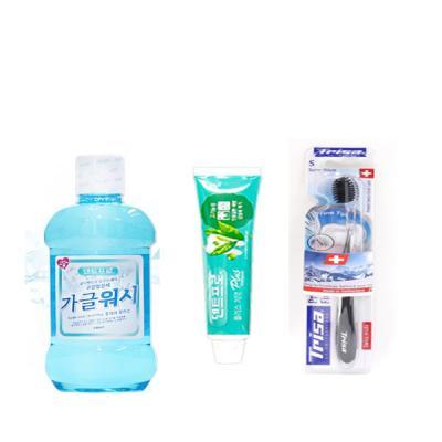 트리사 프로필락 파인팁 칫솔+청결제+ PLUS 치약 세트