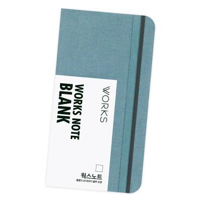 [무료 이니셜각인]웍스 노트 블랭크 14 파우더 블루 포켓
