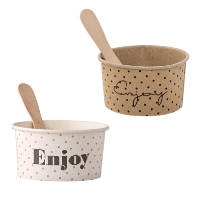 [Blooming]Paper Ice Cream Cup with Spoon아이스크림컵