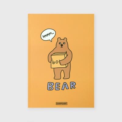 [어프어프] 노트 Bear box-mustard