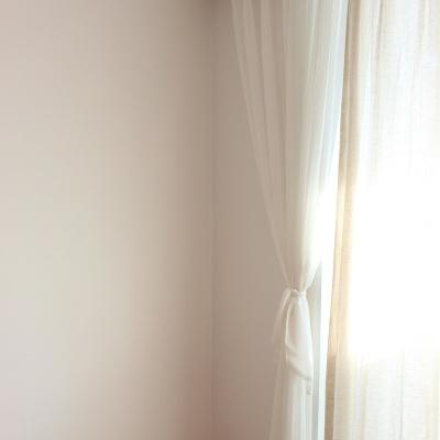 주조밍 호텔 닮은 화이트 나비주름 쉬폰커튼