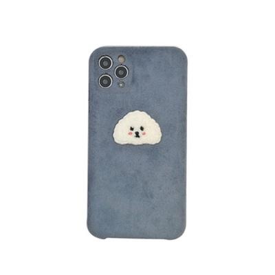 아이폰11 PRO SE2 XS 8 푸들 패브릭 휴대폰 케이스