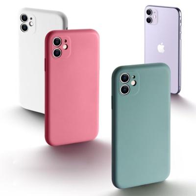 아이폰12/12미니I/파스텔 컬러 무지 실리콘 폰케이스