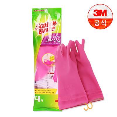 [3M]황토숯 고리형 고무장갑(대)