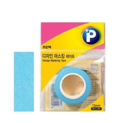 [프린텍] DM06-1510_디자인마스킹 테이프/파랑/15mmx10m