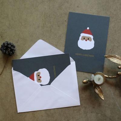해피산타 크리스마스 카드 2장 세트  : 디자인 엽서