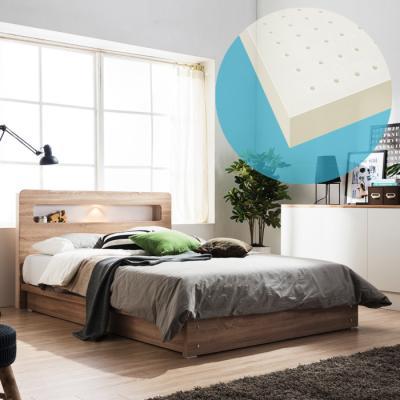 보루네오하우스 모닝듀 LED조명 평상형 침대 킹 (라텍스포켓스프링매트) DM030K