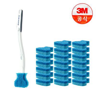 [3M]크린스틱 더블액션 변기청소 핸들+리필21입