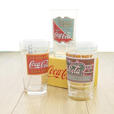 코카콜라 유리컵(프린트)