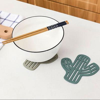 (와인앤쿡)선인장 컵 받침대1개(색상랜덤)