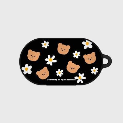 Dot flower bear-black(Buds hard case)