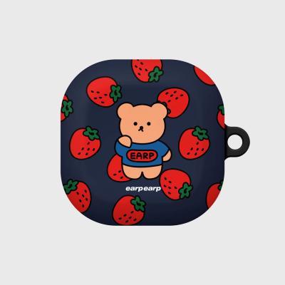 Strawberry bear-navy(buds live hard)