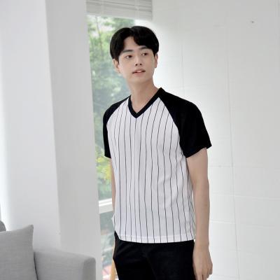 [쿨론원단] 스트라이프 소매 메쉬 기능성티셔츠 4컬러