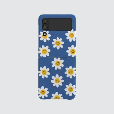 168cm(무광-Z플립3) 스마일 꽃 패턴 블루