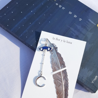 박쥐&초승달 책갈피