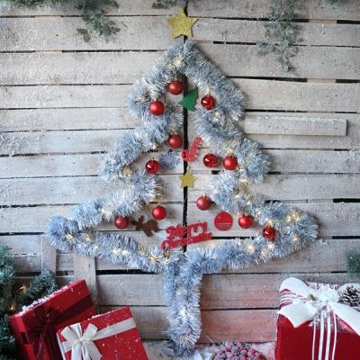 크리스마스 샤틴모루 벽트리 세트 (실버)