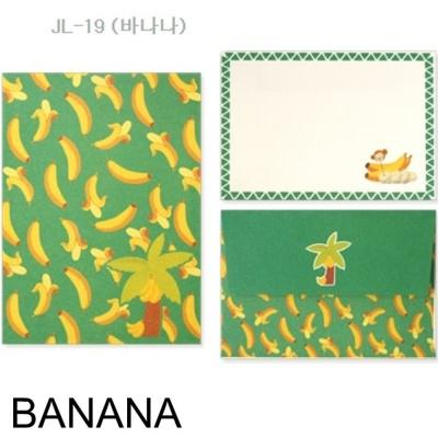 디원 미니 편지지 JL19 바나나1 개