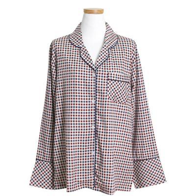 [쿠비카]모달 어텀체크 카라형 투피스 여성잠옷 W225