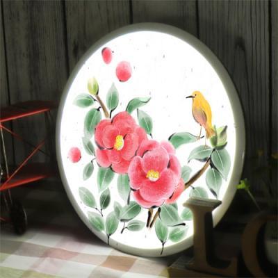 na555-LED액자25R_동백꽃과새