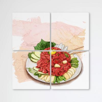 ib457-멀티액자_푸짐한육회한접시